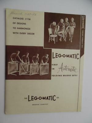 1956 Leg-O-Matic Folding Furniture Catalog Card Table Chair Atomic Age Vintage