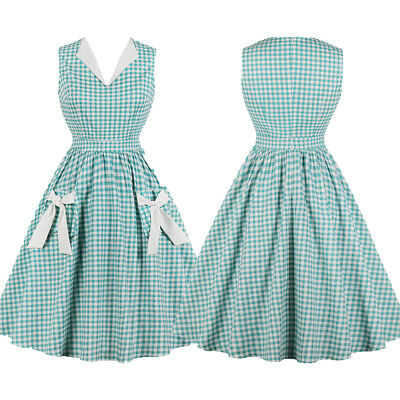 Vintage Style Retro 40s 50s Rockabilly Evening Swing Skaters Tea Housewife Dress