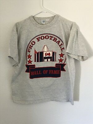 c2892a5d7 Pro Football Hall Of Fame T-shirt Made In USA Large 90 s Artex Single Stitch