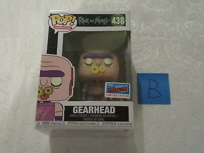 Funko Pop NYCC 2018 Exclusive Sticker Rick and Morty Gearhead #438 B