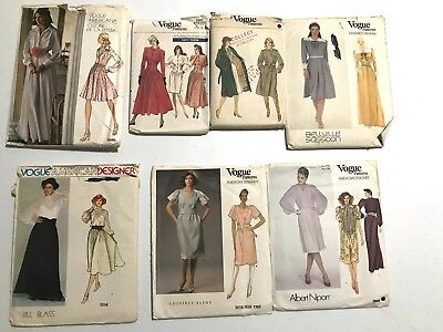 Vintage Sewing Pattern - Lot of 7 Vogue Sewing Patterns