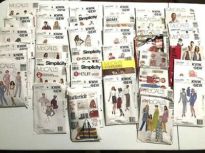 Vintage Sewing Patterns - Lot of 37 90s's Simplicity & McCalls Patterns