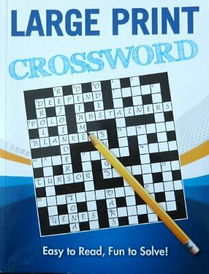 Large Print Puzzles: Crossword (1) Paperback Book The Cheap Fast Free Post