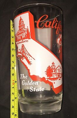 Big Top Peanut Butter glass of California, The Golden State w/ state song 1950s