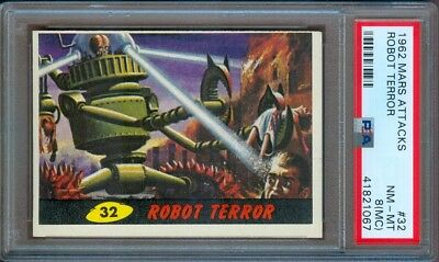 1962 Mars Attacks #32 Robot Terror Psa 8 (Mc)