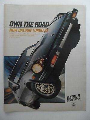 1981 Print Ad Nissan Datsun Turbo-ZX Sports Car Automobile ~ Own the Road