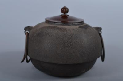 R5161: Japanese Iron Shapely TEAKETTLE Teapot Chagama Tea Ceremony