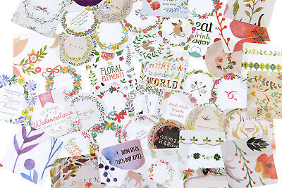46 pieces flower wreath Stickers Pack for junk bullet journal notebook