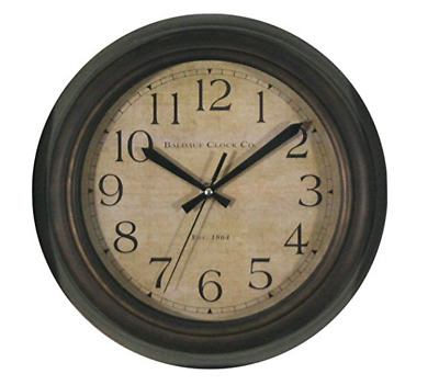 Vintage Allen + Roth Oil-Rubbed Bronze Analog Round Indoor Wall Clock Home Decor