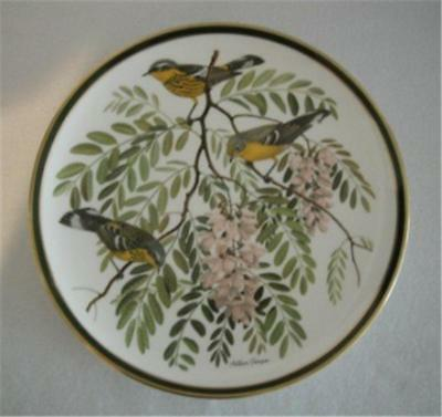 """Wedgwood Franklin Porcelain Songbirds Of The World England Plate 10.75"""" Mint"""