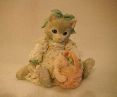 Enesco Calico Kitten C17/228 You're A Friend Fur-Ever Excellent Condition
