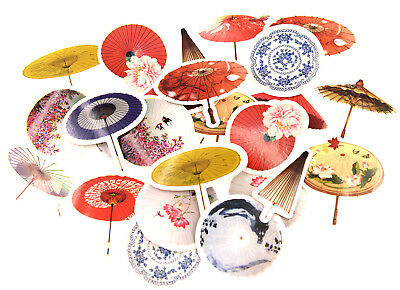 45 pieces Chinese paper umbrella Stickers Pack for junk bullet journal notebook