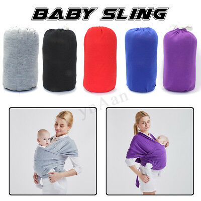 Baby Sling Stretchy Carrier Newborn Infant Wrap Breathable Hip Seat Breastfeed