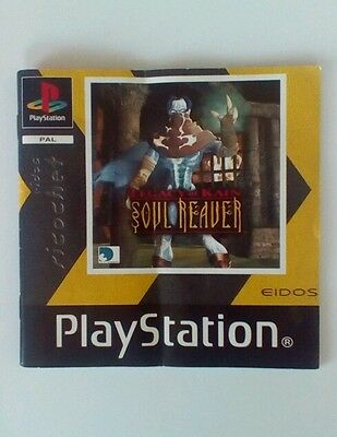 *INSTRUCTIONS ONLY* Kain Soul Reaver Instruction Manual  PS1 PSOne Playstation