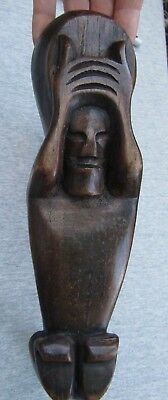 RARE Antique Easter Island Ceremonial Carved Spoon C1800's 1 of a Kind piece!