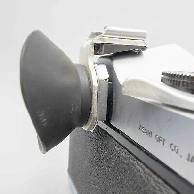 Push-On Cold Shoe Flash Mount with Viewfinder Shade For Pentax - Excellent