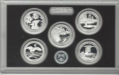 USA: America the Beautiful Quarters Silver Proof Set 2018, Silber
