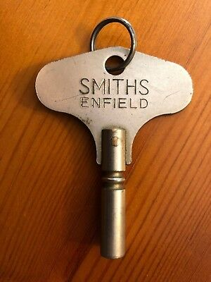 Genuine Smiths Enfield English Clock Key Winding Vintage Antique 4mm