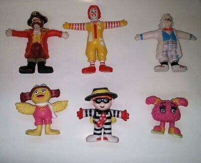 1988 McDonald's Moveables / McDonaldland Happy Meal Figures Complete Set of 6