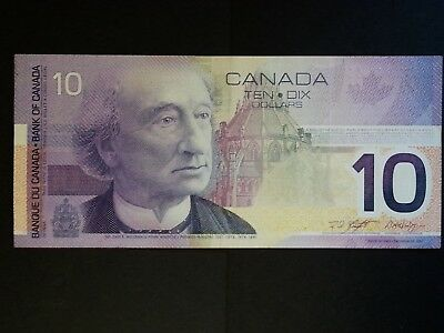 Canada $10 Ten Dollar Banknote 2001 P-102b Signature Knight Dodge