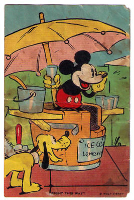 Mickey Mouse Card Bell Bread Recipe Scrapbook ~1930s