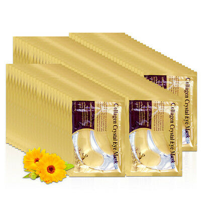 24k Gold Eye Anti Aging Dark Circle Collagen Patches Pad Mask Bag Gel Woemn Lady