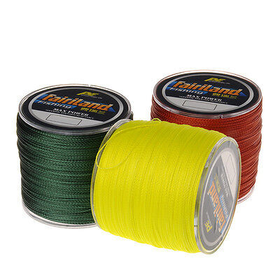 Ultra Strength 4 Strands Braided Zero-Stretch Abrasion Resistant Fishing Lines