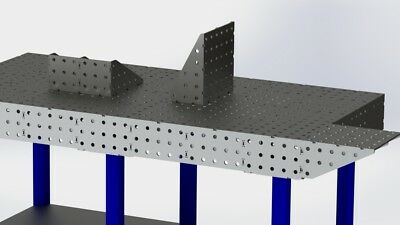 Welding Bench Extension / 3D Fixture table extension / DXF Files / Laser Profile