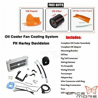 Motorcycle Reefer Oil Cooler Fan Cooling System For Harley Touring 2009-2016