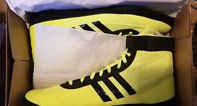 ae639758573 ... ADIDAS COMBAT SPEED 4 Wrestling Shoes S77933 Solar Yellow Black size