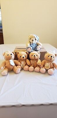 Vintage Cherished Teddies Plushies Patricia Hillman Lot Of 5  Pre Owned