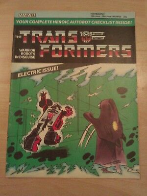 G1 Transformers Comic no 20, from the 80s and original (Really rare)