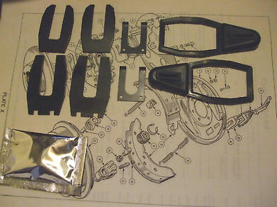 JENSEN Healey Mk1  Rear Wheel Cylinder Gaiters Clips Fitting Kits 1972-73 Only