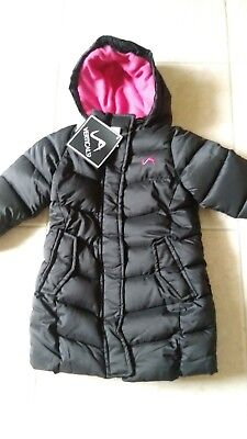 4d83cdd9339 NWT Vertical 9 Heavy Winter Coat Jacket Black Pink 2T Fleece Lined Zipper  Hood