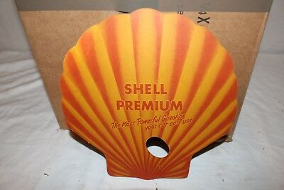 Vintage 1940's Shell Premium Gasoline X-100 Motor Oil Gas Station Hand Fan Sign
