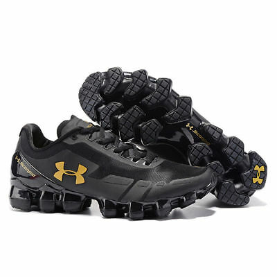 Under Armour Micro G Engage 2 MensBlack Gold Running Road Sports Shoes Trainers