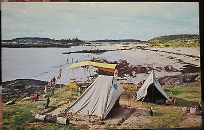 c1950s Hermit Island Campgrounds at Small Point Maine ME postcard view