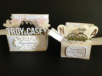 Ex-large Handmade card, 3D Birthday/Wedding Card in a box - ,Personalised