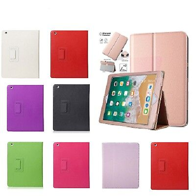 New Smart Rose Gold Leather Stand Case Cover for iPad 2 3 4 Air Mini Pro9.7 2018