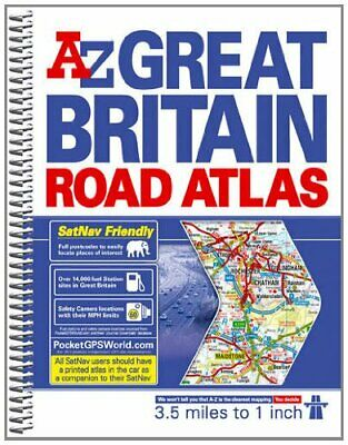 Great Britain Road Atlas (spiral) (A-Z R... by Geographers A-Z Map  Spiral bound