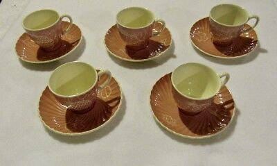 5 Demitasse Cup/Saucer Sets by Susie Cooper