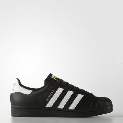 New Adidas Men's Originals Superstar Shoes (B27140)  Black//White-Metallic Gold