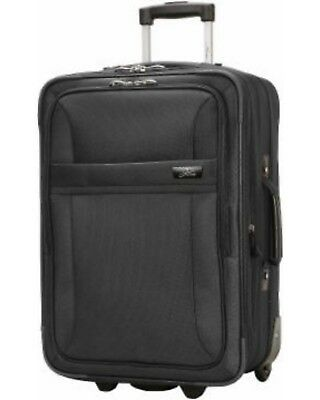 "Skyway Lightweight 20"" Carry On Spinner Upright Suitcase Black NWT Luggage"