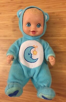 Lauer Toys 1999 Playmates Water Babies Baby Doll - Care Bears Bedtime Bear Vtg