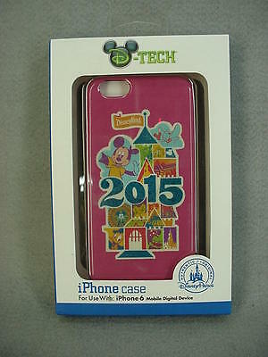 Disney Parks 2015 Mickey Mouse Disneyland Pink Cell Phone Case iPhone 6 NEW