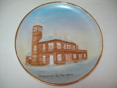 """""""old Shepparton Post Office"""" Hand Painted Plate."""