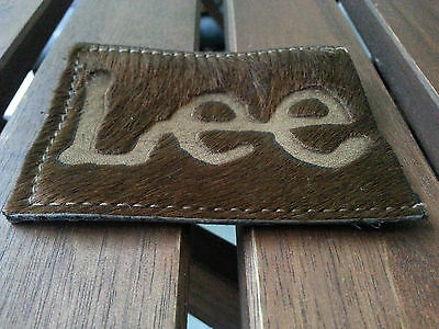Original Lee Hair and Hide Leather Patch, Geld- oder KK-Etui, dunkelbraun, neu