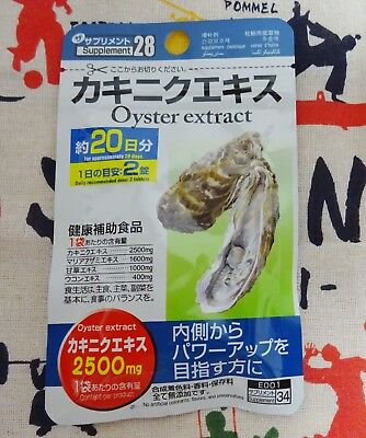 DAISO Supplement Oyster extract 2500 mg 20 days tablet JAPAN F/S