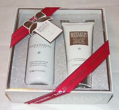 Baylis & Harding Jojoba Silk and Almond Oil Duo Gift Pack Body wash and Lotion