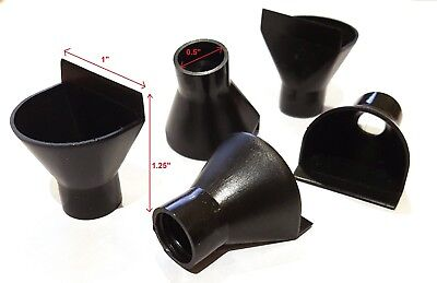 5 x Wide Mouth Scoop Shovel Plastic Mini Funnel For Glass vial
